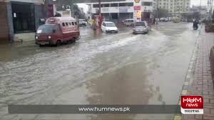 Karachi wakes up to flooded streets after heavy rains overnight