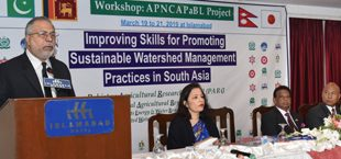 Workshop on improving skills for sustainable watershed management practices held at PARC