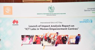 "Huawei partnered with Universal Service Fund for ""ICT Labs in Women Empowerment Centers"" on International Girls in ICT Day"