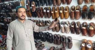 The traditional hand-made 'Shikari' footwear still popular in Zhob