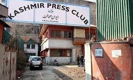 Occupied Kashmir valley gets first-ever Press Club body ;