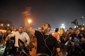 Egyptians protest against President Fattah al-Sisi