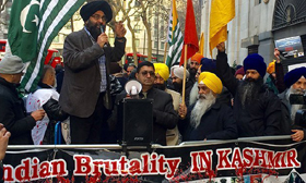 Pro-Khalistan Sikhs and Pakistanis hold protest against India over human rights' violations