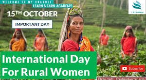 International Day of Rural Women to be observed today