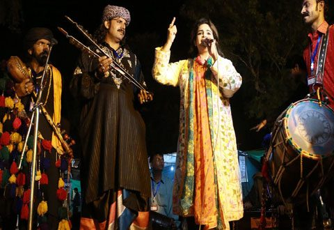 Famous folk singers from all over Punjab are enthralling visitors at Lok Mela
