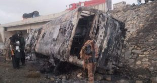 15 including women, children burnt alive as passenger bus caught fire