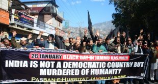 Kashmiri marks Indian Republic Day as Black Day