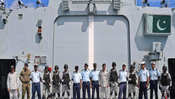 Pak Navy ships Moawin & Aslat visit port Victoria, Seychelles