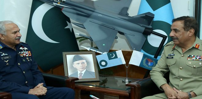 Chairman JCSC General Nadeem Raza pays maiden visit to Air Headquarters
