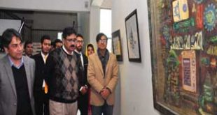 Additional Commissioner (C) visits calligraphy exhibition