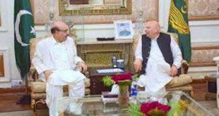 AJK President calls on Punjab Governor Chaudhry Sarwar