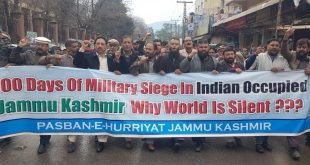 Protest in AJK on 200th day of Military siege in IOK