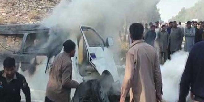 Three killed in van, truck collision near Thatta