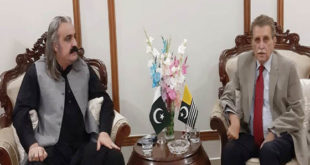 Gandapur discusses latest situation arising out of corona pandemic with PM AJK