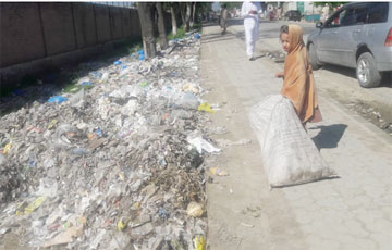 Khar; Waste Dump in Front of District Head Quarter Hospital Khar Bajaur