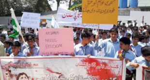 Protest in Neelum against Indian Army