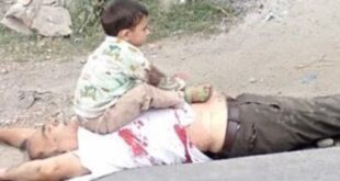 Heart wrenching pictures of martyred Kashmiri civilian reflects barbarity of Indian forces